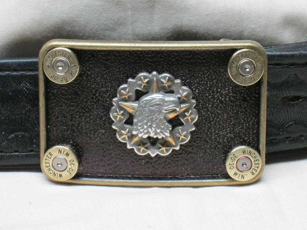Eagle Star Belt Buckle 30-30 Brass