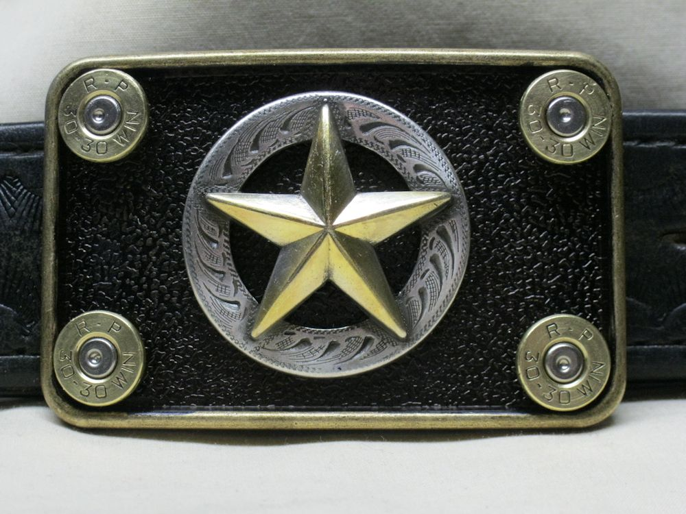 The Lawman Belt Buckle 30-30 Brass
