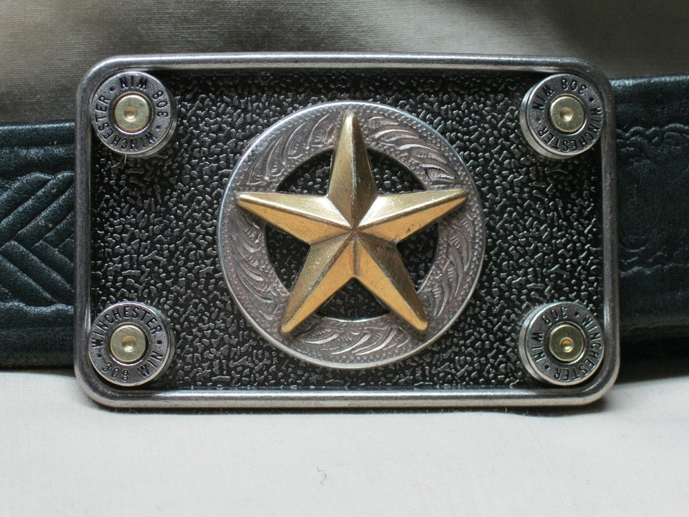 The Lawman Belt Buckle 308 Nickel