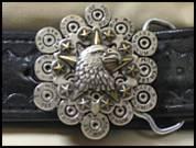 Fancy Oval Bullet Belt Buckles