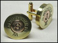 Shotgun Shell Monogram Cufflinks