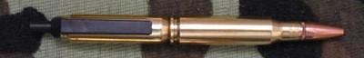 Military 7.62 Clicker Bullet Pen - retractable model