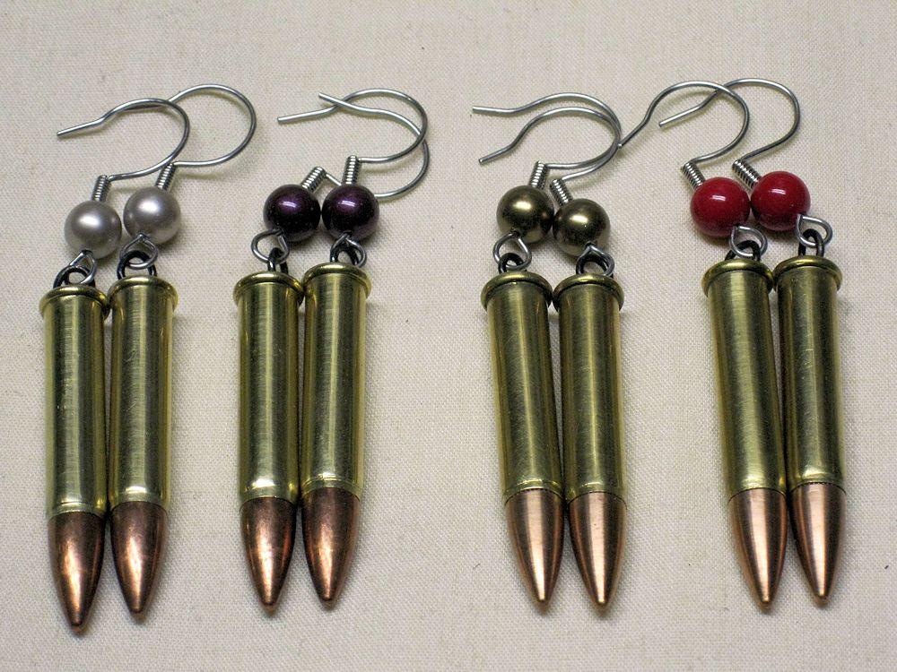 Authentic Bullet Earrings