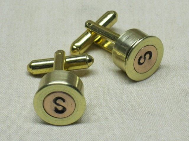 Bullet Single Monogram Cufflinks