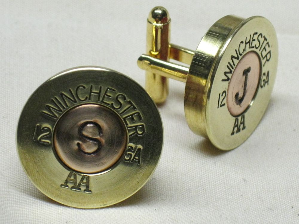 Winchester Brass Monogram Cufflinks
