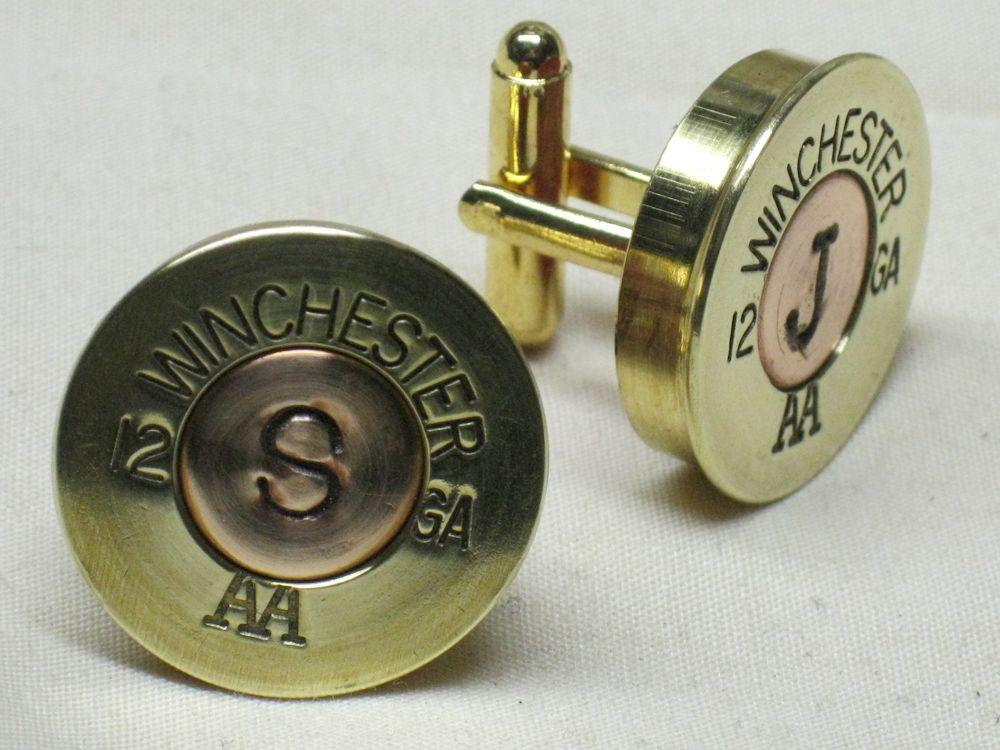 Winchester Brass Monogram Cufflinks