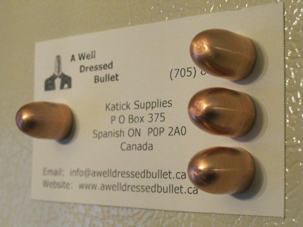 Copper Bullet Fridge Magnets