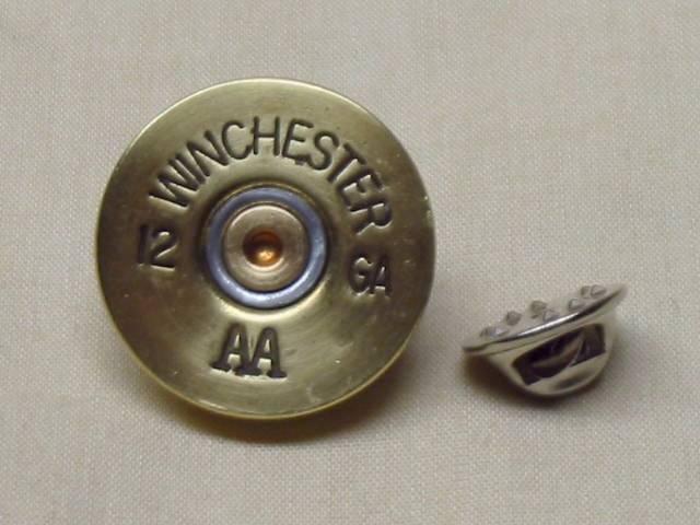 Winchester AA 12 Ga Brass Tie Tack